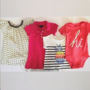 Other - Baby Girls Clothing Lot Baby Gap Hilfiger Carters
